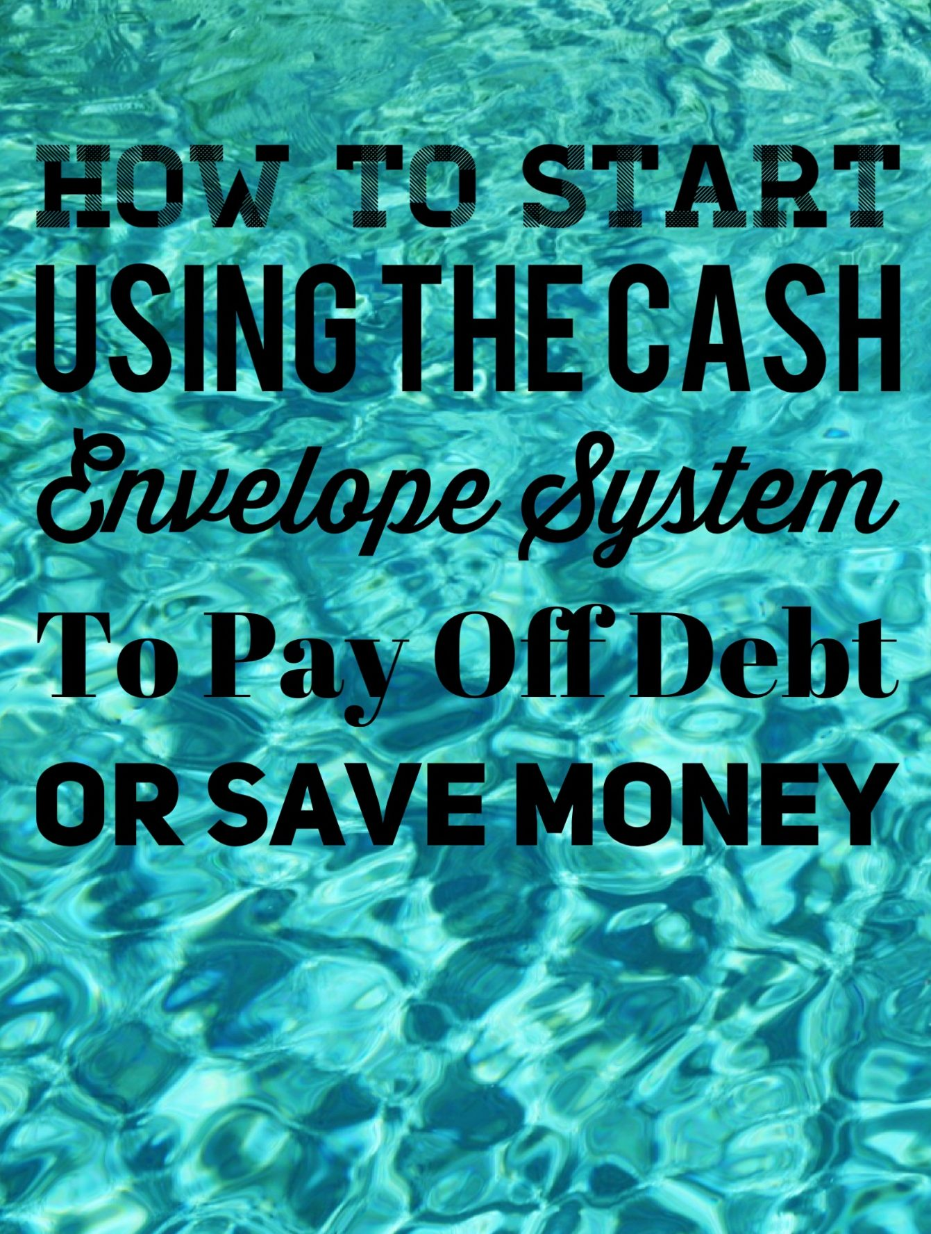 A how to on using the cash envelope system to smash debt and save money! www.TheEnchantedGypsy.com