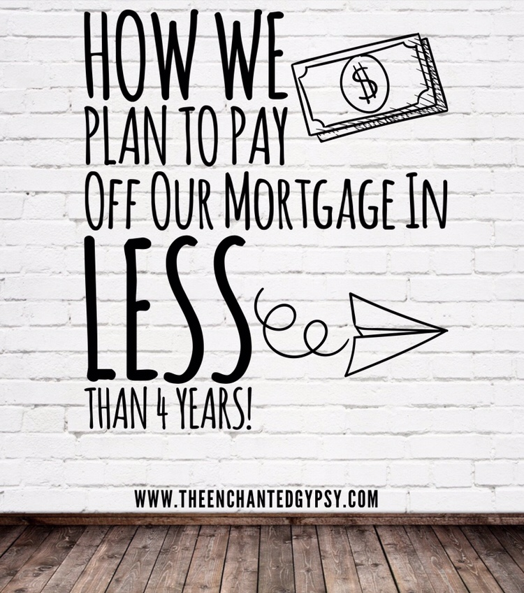 How We Plan To Pay Off Our Mortgage In Less Than 4 Years www.theenchantedgypsy.com